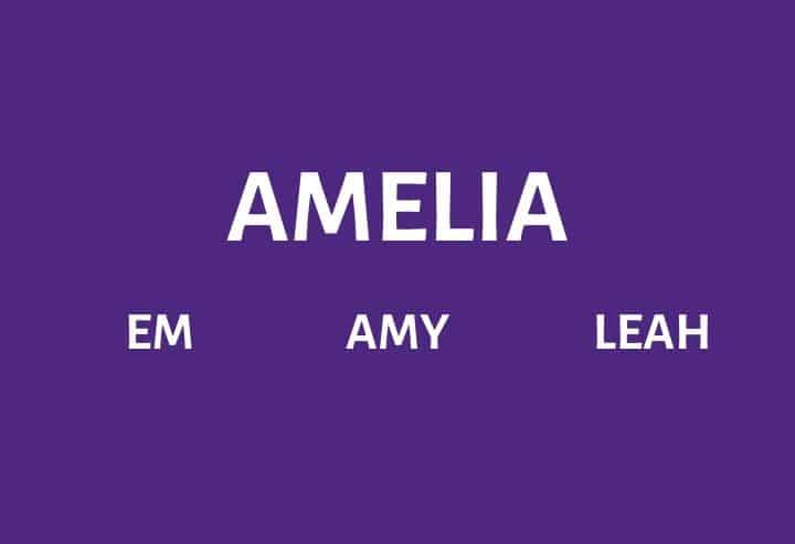 Nicknames for Someone Named Amelia