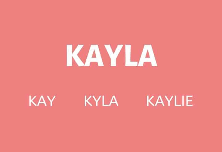 Nicknames for Kayla